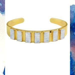 Karen London rectangular moonstone cuff
